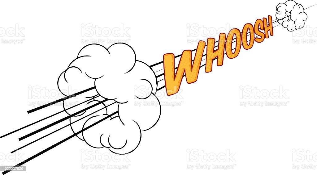 Cartoon Comic Book Whoosh Fast Sound Effect vector art illustration