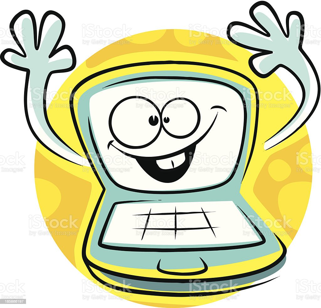 Cartoon computer royalty-free cartoon computer stock vector art & more images of business