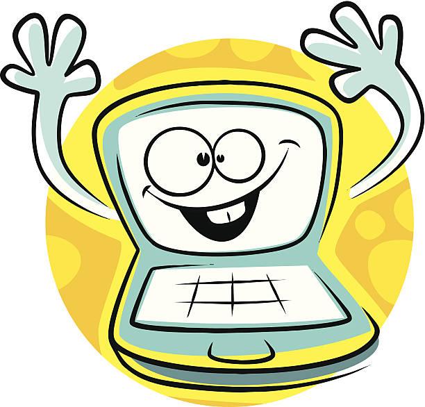 Computer Cartoon Computer Monitor Cpu Illustrations ...