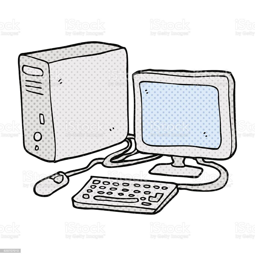 Cartoon Computer Stock Illustration Download Image Now Istock Computers can come in all sorts of different sizes. https www istockphoto com vector cartoon computer gm520707010 91063105