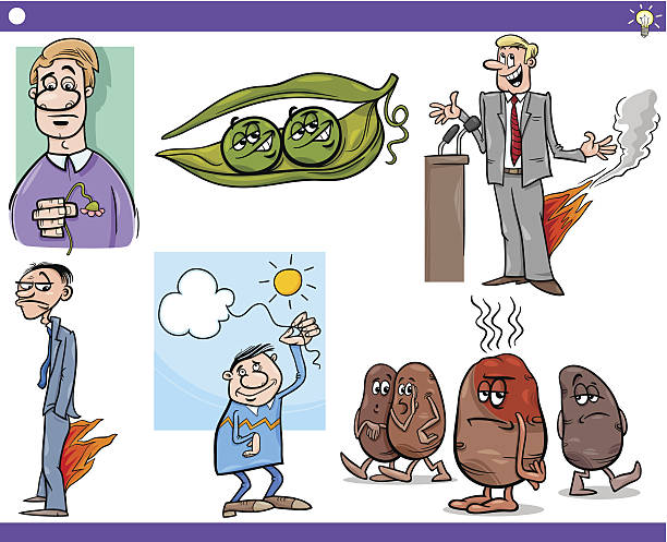cartoon concepts and sayings set - like two peas in a pod stock illustrations, clip art, cartoons, & icons