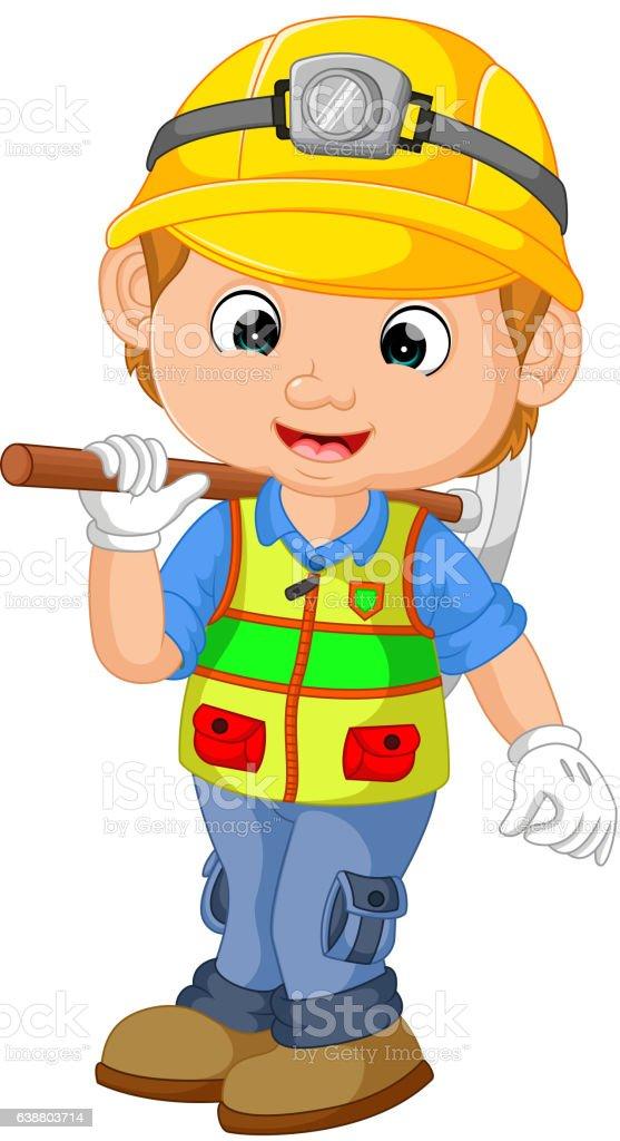 Comic Bauarbeiter Handwerker Stock Vektor Art Und Mehr Bilder Von
