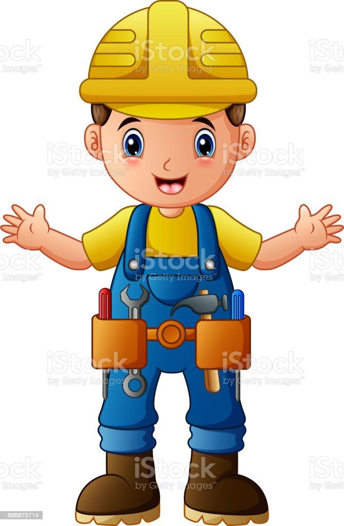 Comic Bauarbeiter Stock Vektor Art Und Mehr Bilder Von Arbeit Und