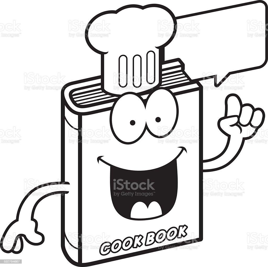 Dessin Anime Livre De Cuisine Parle Vecteurs Libres De