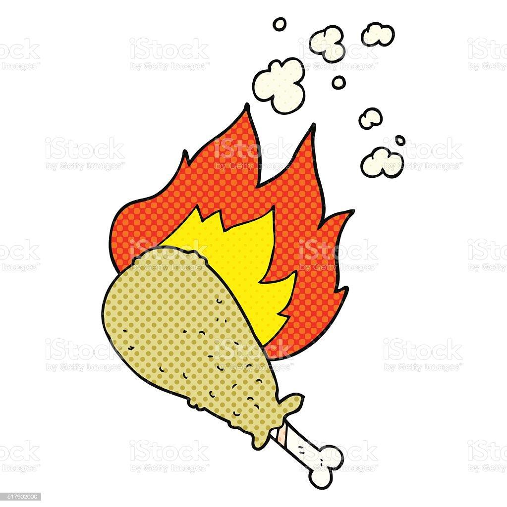 Cartoon Cooked Chicken Leg Royalty Free Stock Vector Art Amp