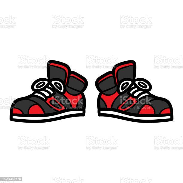 Cartoon Cool Sneakers Stock Illustration Download Image Now Istock