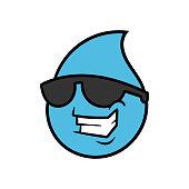 Cartoon Cool Water Drop