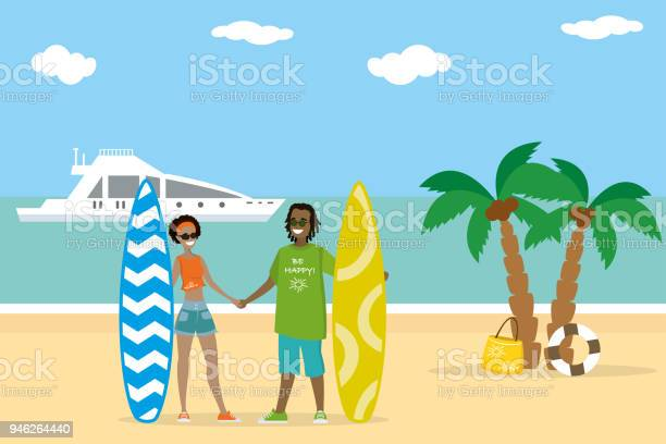 Cartoon couple in love holds surfboards on the beach vector id946264440?b=1&k=6&m=946264440&s=612x612&h=xxqy udcz ypq7thze1 ehytrlphxmhgfqtbpepn0aa=