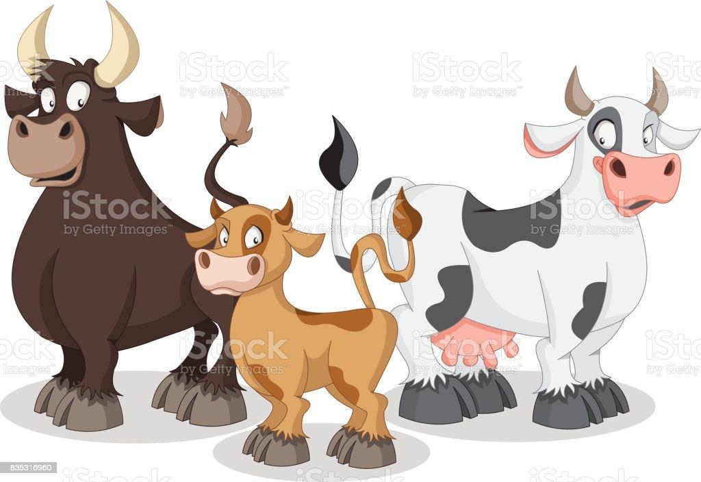 Vache de dessin anim veau et taureau cliparts - Vache en dessin ...