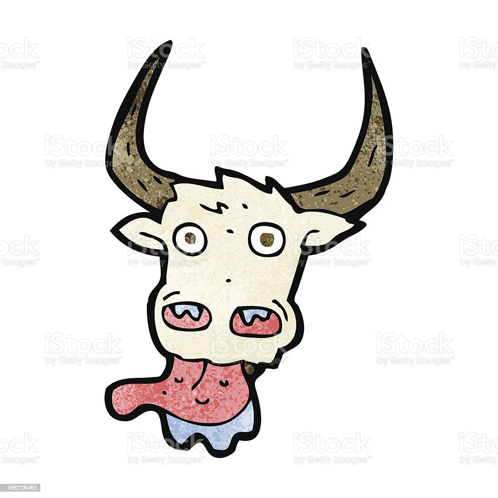 cartoon cow face royalty-free stock vector art