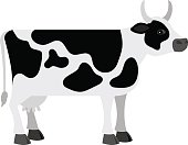 Cartoon cow on white background vector illustration