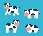 Cartoon Cow set