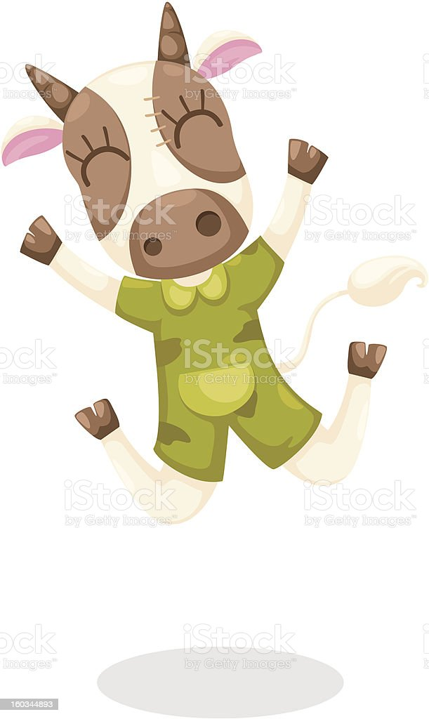cartoon cow royalty-free cartoon cow stock vector art & more images of agriculture