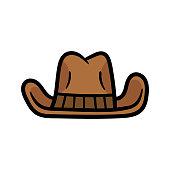 Cartoon Cowboy Hat Illustration