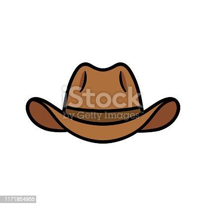 Cartoon Cowboy Hat Vector Illustration