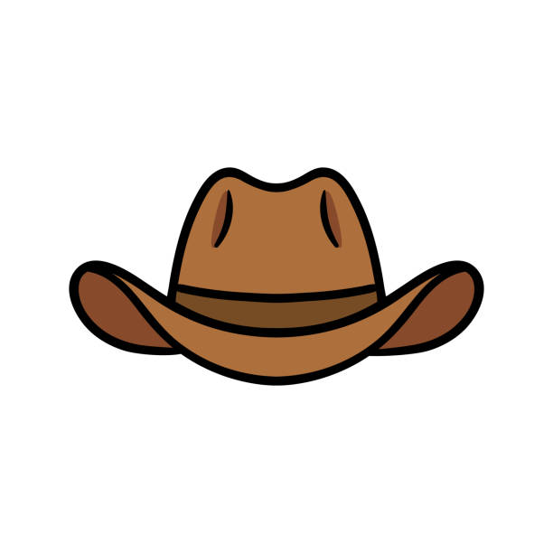 Cartoon Cowboy Hat Vector Illustration Cartoon Cowboy Hat Vector Illustration rancher illustrations stock illustrations