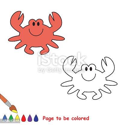 Ilustración de Cangrejo De Dibujos Animados De Color y más banco de ...