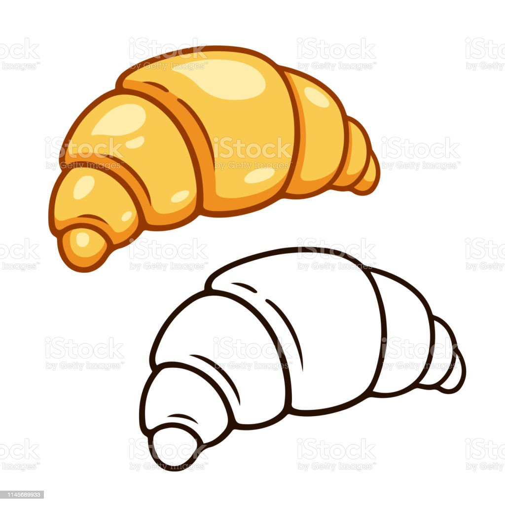 Cartoon Croissant Drawing Stock Illustration Download Image Now