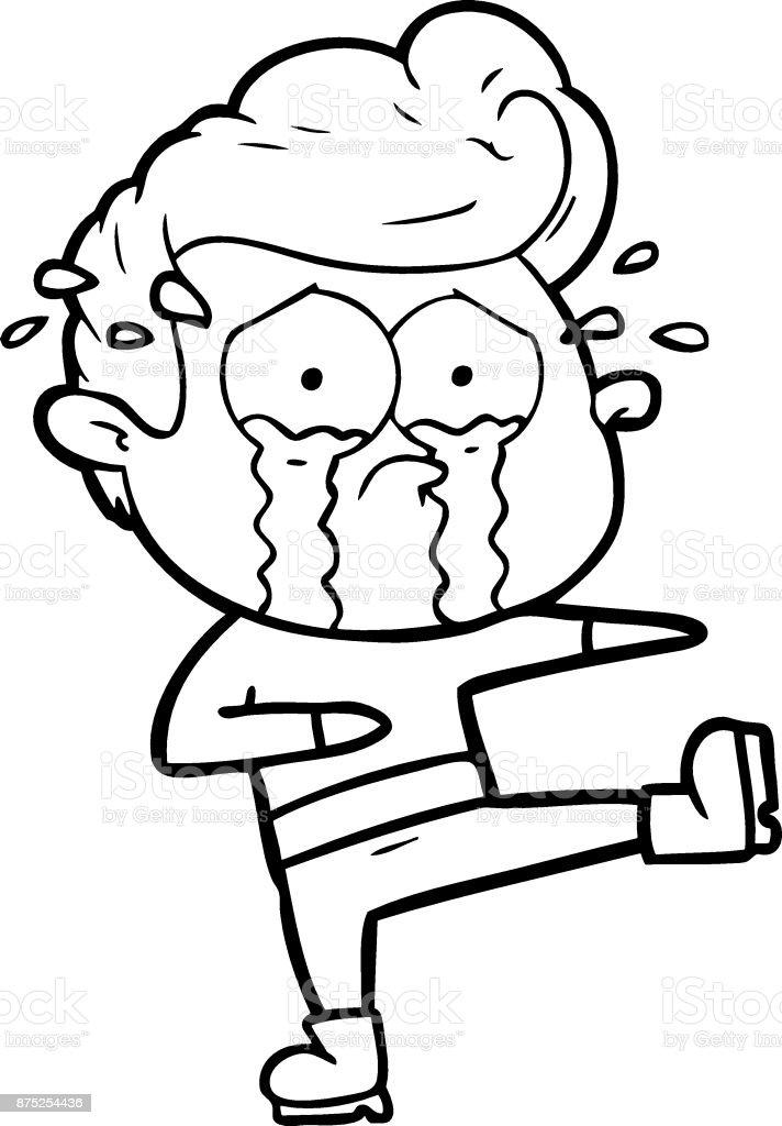 Ilustración de Dibujos Animados Bailarina Llorando y más banco de ...