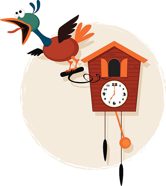 royalty free cuckoo clock clip art vector images illustrations