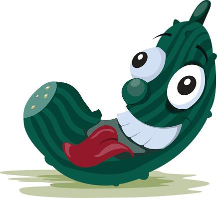 cartoon cucumber print