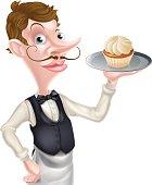 istock Cartoon Cupcake Waiter 493884812