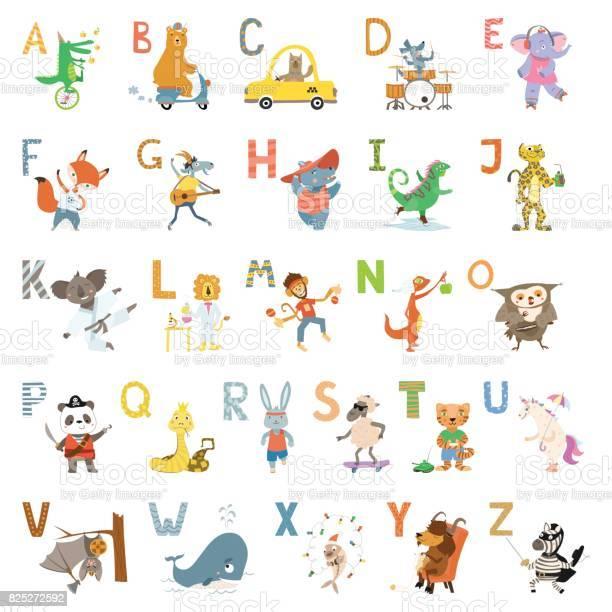 Cartoon cute animals alphabet letters for children school preschool vector id825272592?b=1&k=6&m=825272592&s=612x612&h=m72csvvz1d fz9qicb5c43ms51bkuv2uykfbgfb9rne=