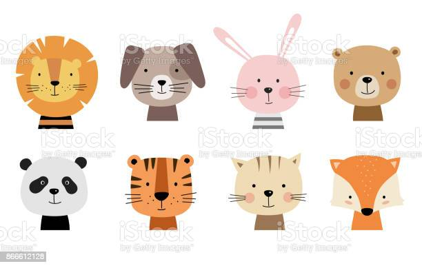 Cartoon cute animals for baby cards vector id866612128?b=1&k=6&m=866612128&s=612x612&h=ouzhtskachxjzctp36t danij0daedt7vmm8fflmphc=