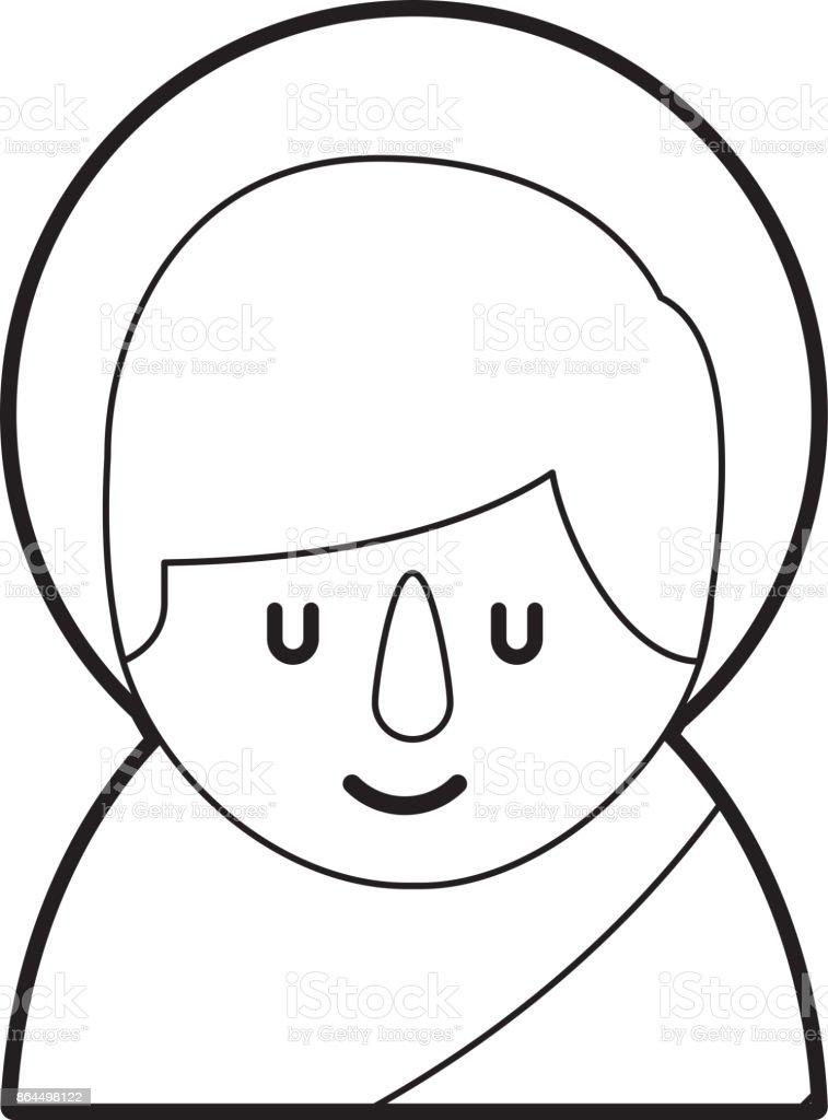 Dibujos De Navidad Con Jesus.Ilustracion De Lindo Bebe De Dibujos Animados Imagen De