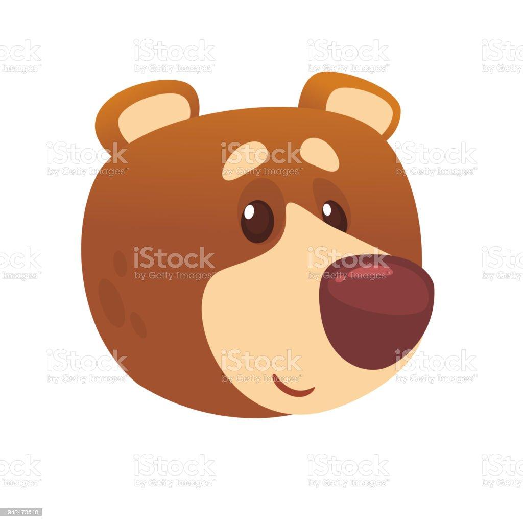 Cartoonniedliche Bärensymbol Vektorillustration Eines Kühlen Bär ...