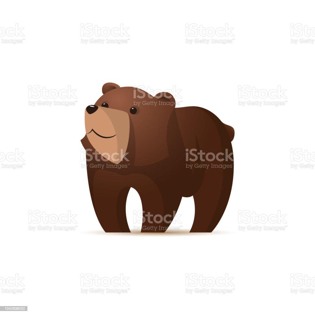 Cartoon cute bear illustration. vector art illustration