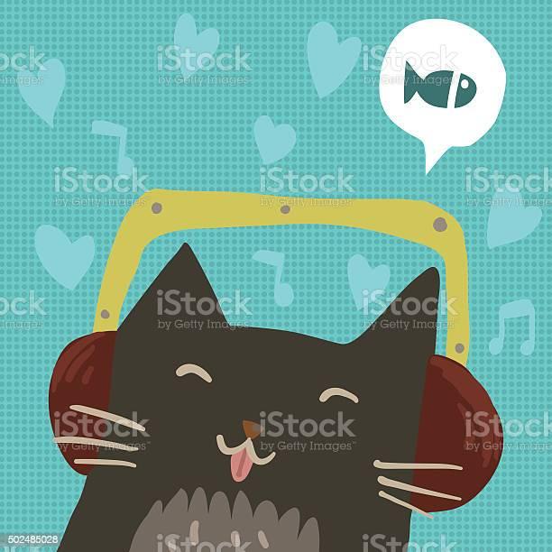 Cartoon cute cat with headphones flat mascot vector id502485028?b=1&k=6&m=502485028&s=612x612&h=eyyfxatru90oo8ggnwxg2h41rppca25oy8sxcawu2w0=