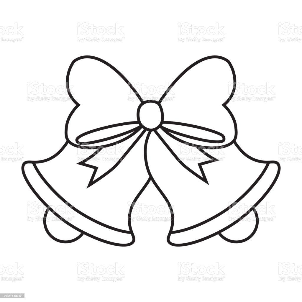 sino de natal bonito dos desenhos animados isolado vetor e