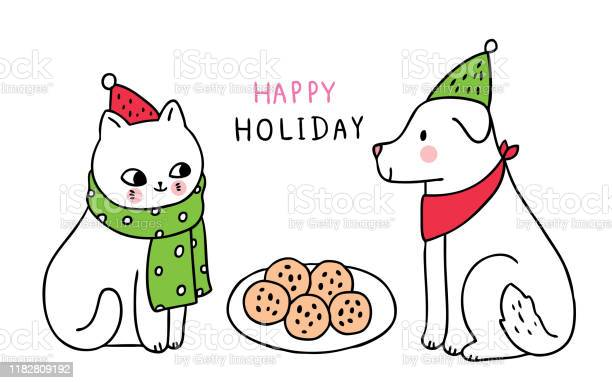 Cartoon cute christmas cat and dog eating cookies vector vector id1182809192?b=1&k=6&m=1182809192&s=612x612&h=8gkschzkon0xbktl3walrtbm6ckkqs0ub d2 ynqta0=