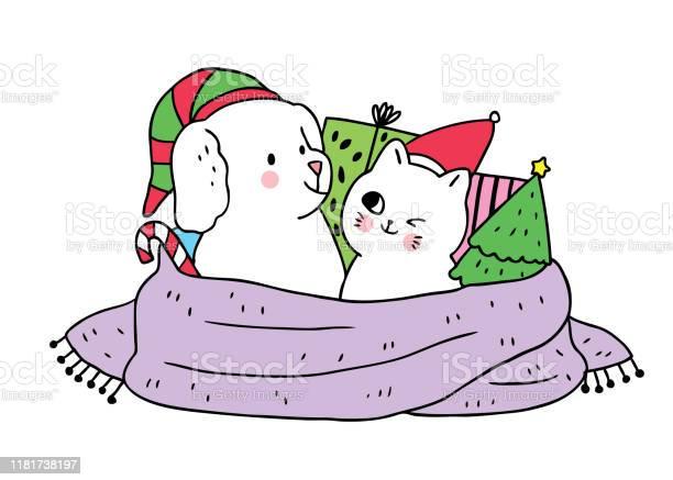 Cartoon cute christmas dog and cat and gifts vector vector id1181738197?b=1&k=6&m=1181738197&s=612x612&h=z80vcb6r p6a2n6asqplbjq5b lcfkl0wcfcdw9w2da=
