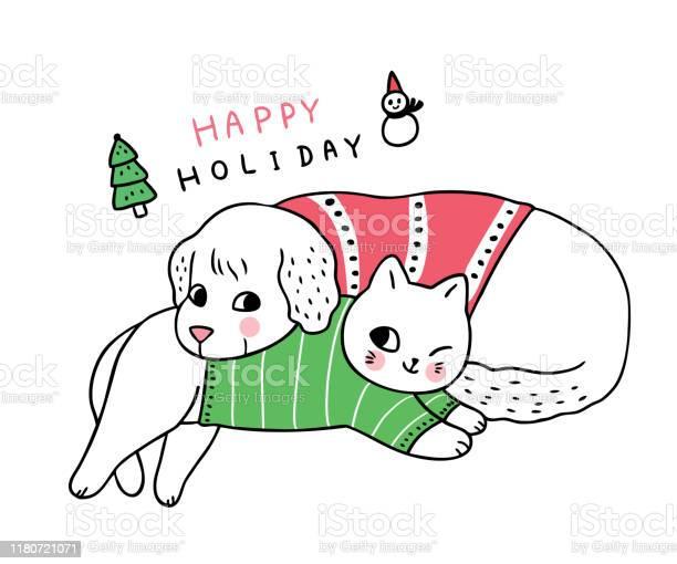 Cartoon cute christmas dog and cat sleeping vector vector id1180721071?b=1&k=6&m=1180721071&s=612x612&h=shgrouddav1ex0xbl9qtf  1n5rp9kpi5vzgn1obwto=
