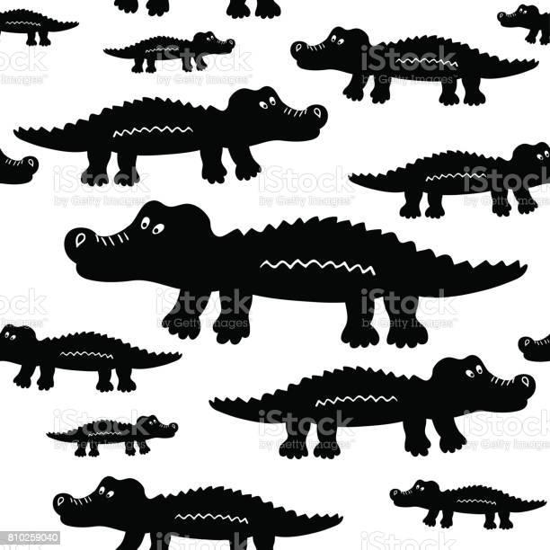 Cartoon cute crocodiles seamless vector pattern vector id810259040?b=1&k=6&m=810259040&s=612x612&h=uvqac aad15hcsihbrdxpal49w a 23bt8eet5zecug=