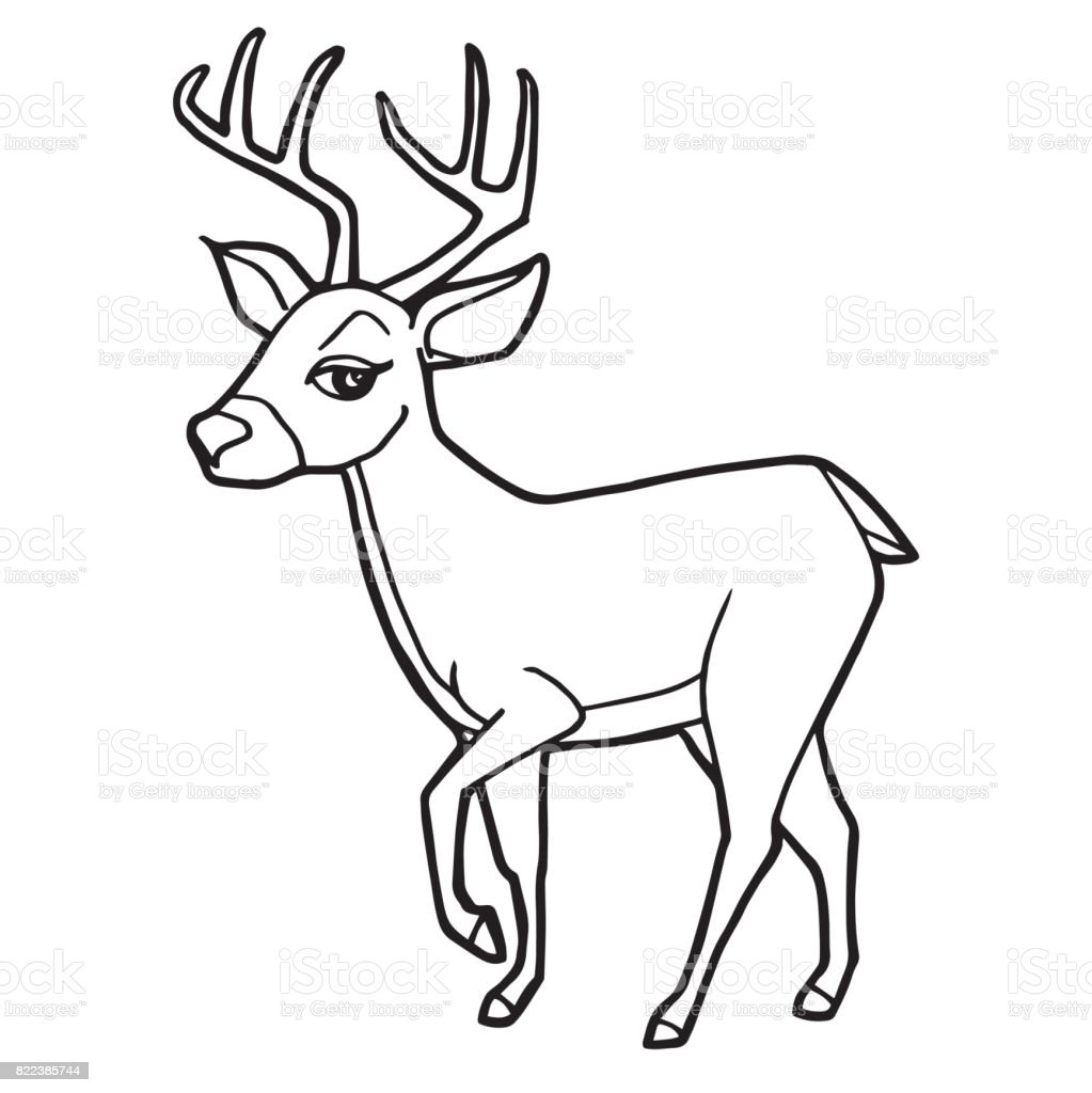 Adorable Cute Deer Coloring Pages