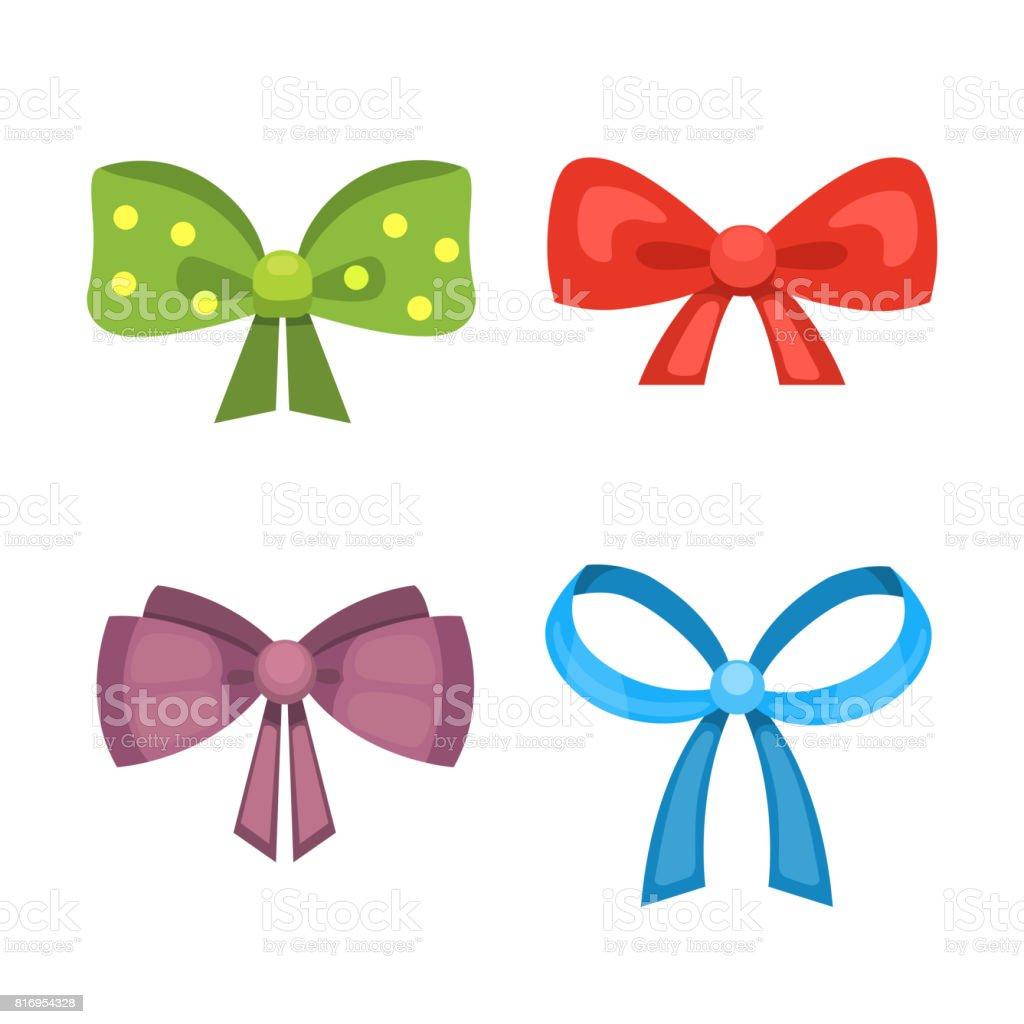 dibujos animados lindo regalo arcos con cintas lazo de bow clipart no background bow clipart without backgound