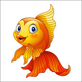 Cartoon cute goldfish