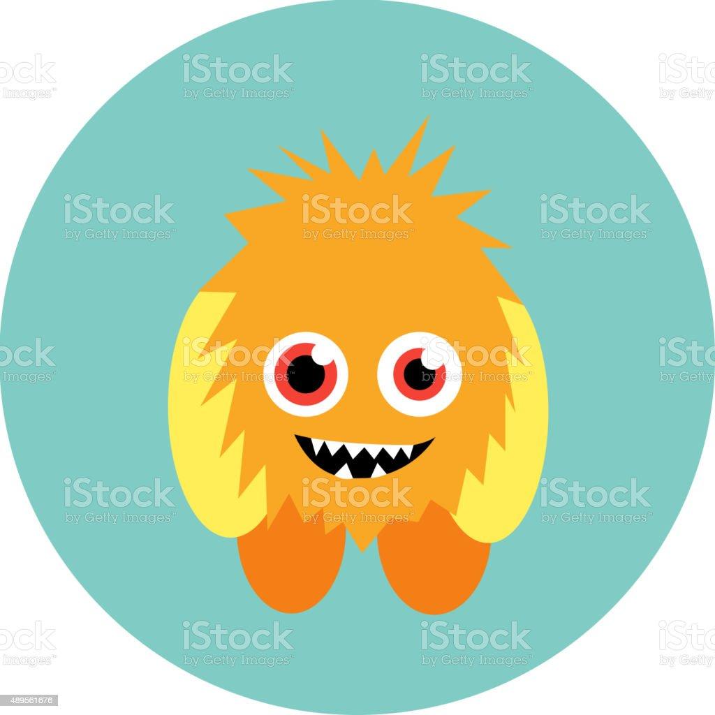 cartoon cute monster alien vector illustration stock vector art