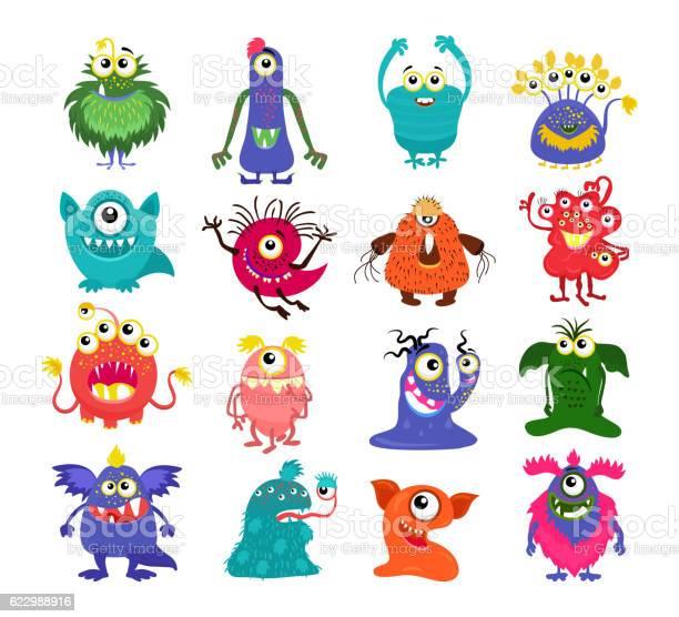 Cartoon cute monsters set vector id622988916?b=1&k=6&m=622988916&s=612x612&h=rmnrpljcxzr6c9vxrmfcphyc5qqg8h72t02 kbw788w=