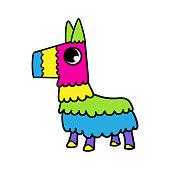 Cartoon Cute Pinata Character Illustration