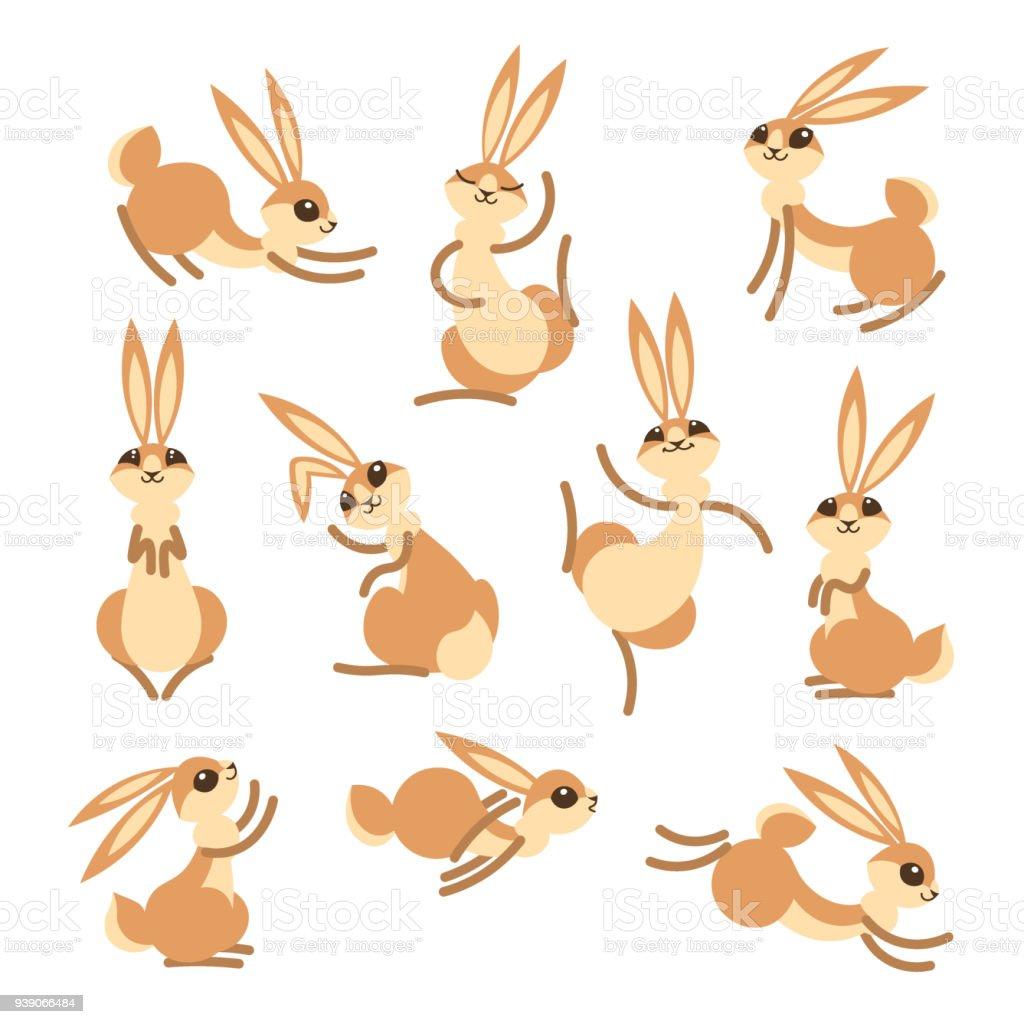 ilustração de coelho bonito dos desenhos animados ou lebre