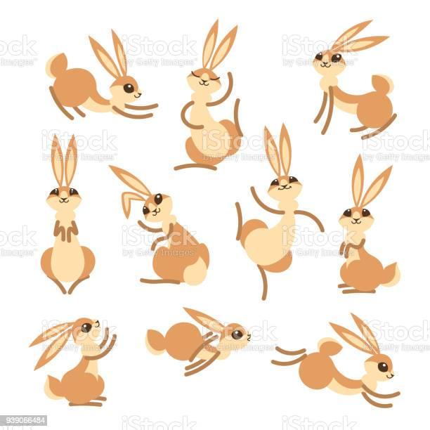 Cartoon cute rabbit or hare little funny rabbits vector illustration vector id939066484?b=1&k=6&m=939066484&s=612x612&h= fme50lmrb8veo6ajq2g9abtonm5phspr0ivelw i90=