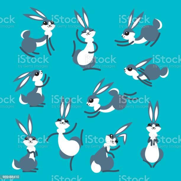 Cartoon cute rabbit or hare little funny rabbits vector illustration vector id939468410?b=1&k=6&m=939468410&s=612x612&h=6lkfy60fpp7d2y6zrbih74h5nstknegqrsr4dbxvzdi=