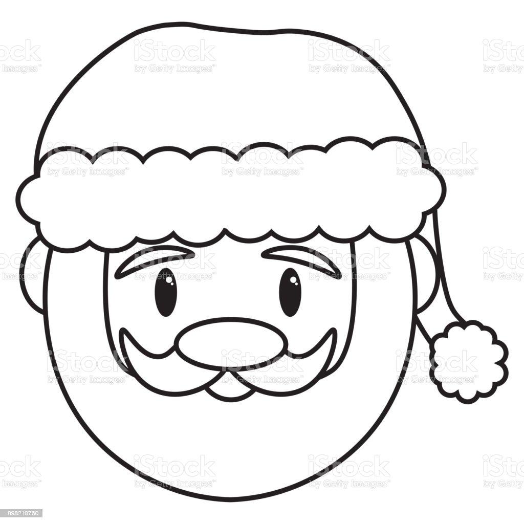 Cartoonsüßer Weihnachtsmann Isoliert Stock Vektor Art Und