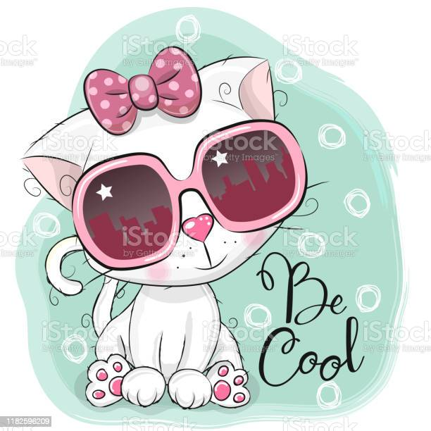 Cartoon cute white kitten girl with sun glasses vector id1182596209?b=1&k=6&m=1182596209&s=612x612&h=mqqojmycr zxrfc28d f8qpo8cm5a5yk42ivs0gzare=