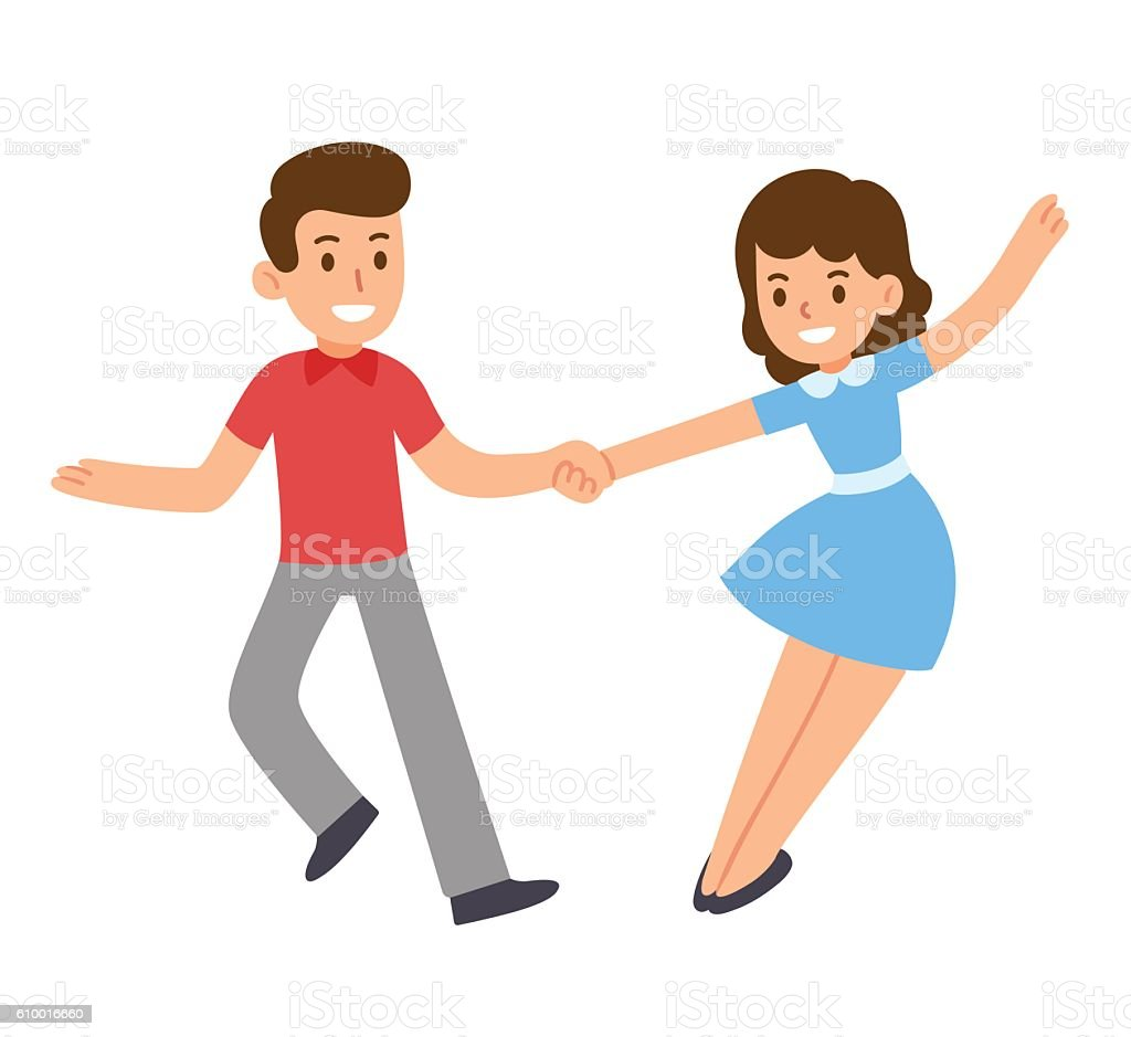Cartoon Dancing Couple Royalty Free Stock Vector Art Amp More Images