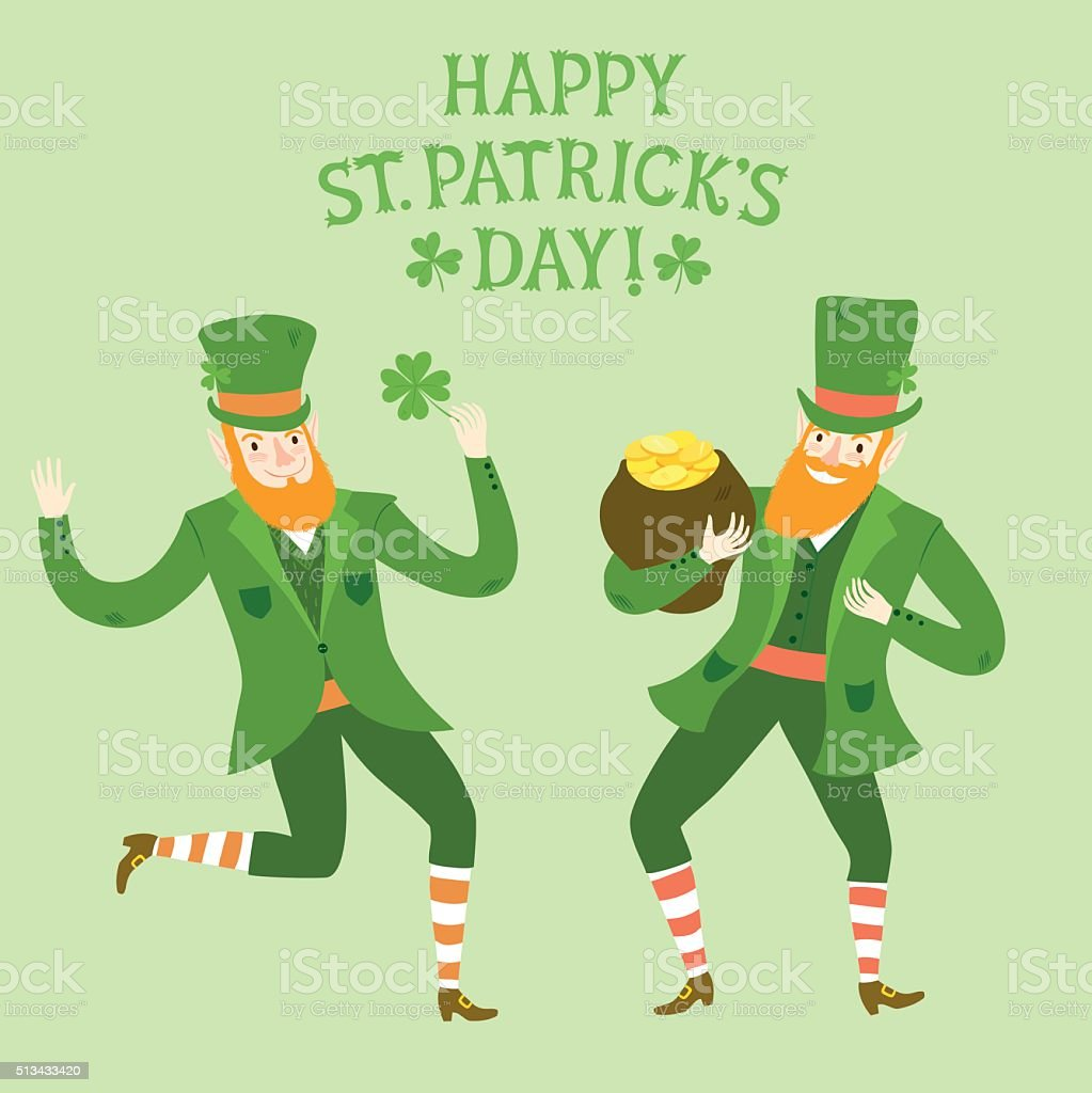 Uncategorized Dancing Leprechauns cartoon dancing leprechauns stock vector art 513433420 istock royalty free art